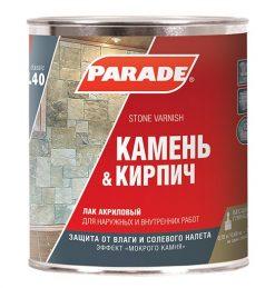 Лак по камню PARADE L40